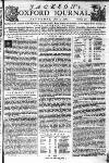 J C K S O |MOXFORD JOURNAL.^* SATURDAY, June 7, 1760. Numb. 371. Pablifhed by W. Jackson in the High-Street,