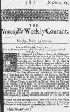 Newcastle Courant Sat 13 Jan 1722 Page 1