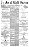 Isle of Wight Observer Saturday 30 October 1880 Page 1