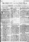 Derby Mercury Wed 22 Feb 1727 Page 1