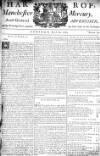 Manchester Mercury Tue 21 Jul 1752 Page 1