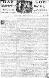 Manchester Mercury Tuesday 06 February 1753 Page 1