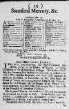 Stamford Mercury Wed 12 Jan 1715 Page 1