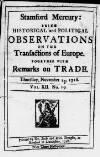 Stamford Mercury Thu 13 Nov 1718 Page 1