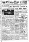 Portsmouth Evening News Friday 27 February 1953 Page 1