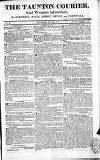 Taunton Courier, and Western Advertiser Thursday 24 May 1810 Page 1