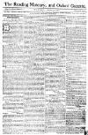 Reading Mercury Monday 28 January 1771 Page 1