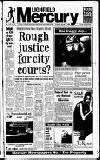 Lichfield Mercury Thursday 15 January 1998 Page 1