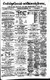 Cambridge Chronicle and Journal Friday 04 September 1885 Page 1