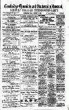 Cambridge Chronicle and Journal Friday 16 October 1885 Page 1