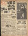 MUSSO SACKS HIS NAVAL CHIEF