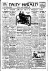 Daily Herald Tuesday 13 October 1925 Page 1