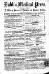 """Vo""""vi.fNo""""?67. WEDNESDAY, DECEMBER 31,1862. ORIGINAL COMMUNICATIONS. LEADING ARTICLES. Payment to Medical Witnesses in Courts of Law, Maryborough Dispensary—lncrease of Salary"""