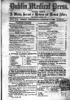 Dublin Medical Press Wednesday 13 January 1864 Page 1