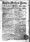 Dublin Medical Press Wednesday 02 March 1864 Page 1