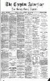 Croydon Advertiser and East Surrey Reporter Saturday 24 April 1886 Page 1