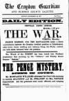 Croydon Guardian and Surrey County Gazette Monday 24 September 1877 Page 1