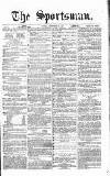 The Sportsman Tuesday 26 September 1865 Page 1