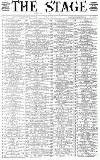 The Stage Thursday 22 June 1893 Page 1