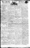 Public Ledger and Daily Advertiser Wednesday 09 January 1805 Page 1