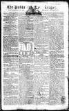 Public Ledger and Daily Advertiser Friday 11 January 1805 Page 1