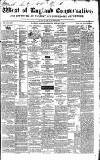 Western Courier, West of England Conservative, Plymouth and Devonport Advertiser Wednesday 08 February 1837 Page 1