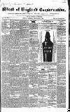 Western Courier, West of England Conservative, Plymouth and Devonport Advertiser Wednesday 10 May 1837 Page 1