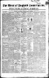 Western Courier, West of England Conservative, Plymouth and Devonport Advertiser Wednesday 01 September 1847 Page 1