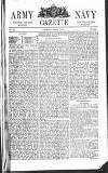 Army and Navy Gazette Saturday 03 March 1860 Page 1