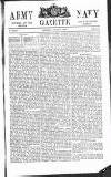 Army and Navy Gazette Saturday 11 August 1860 Page 1