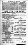 Army and Navy Gazette Saturday 09 January 1886 Page 10