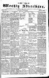 Chepstow Weekly Advertiser Saturday 24 January 1857 Page 1