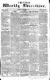 Chepstow Weekly Advertiser Saturday 26 September 1857 Page 1