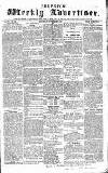 Chepstow Weekly Advertiser Saturday 07 November 1857 Page 1