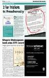 Shapiro Shakespeare book wins STR award