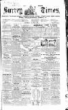 West Surrey Times Saturday 12 July 1856 Page 1