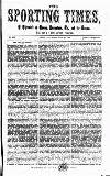 Sporting Times Saturday 22 July 1865 Page 1