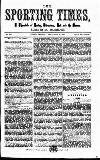 Sporting Times Saturday 30 September 1865 Page 1