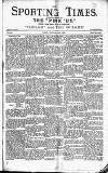 Sporting Times Saturday 01 January 1887 Page 1