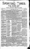 Sporting Times Saturday 01 August 1891 Page 1
