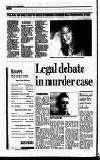Legal debate in murder case