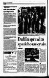 Dublin sprawl to spark house crisis