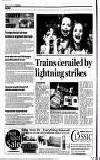 Trains derailed by lightning strikes