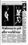 Madonna to quit after world tour