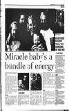 Miracle baby's a bundle of energy