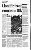 IRON' MANGAN IN RECORD BID New marathon route triumph