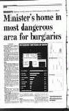 Minister's home in most dangerous area for burglaries • FROM PAGE 1