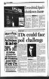 TDs could face poll challenge