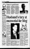 Husband's fury at memorial for Meg