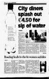 City diners splash out €4.50 for sip of water By Chmigh Sheehy